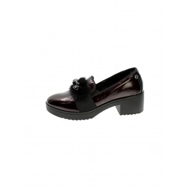Enval soft Mocassino Donna  Vernice Bordo' 6250011